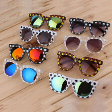 New Fashion Colorful Sunglasses Stars Thick Frame Colorful Film/Gray Lenses RR