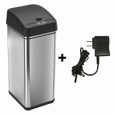 13 Gallon Automatic Sensor Touchless Deodorizer Trash Can Stainless Steel Bin