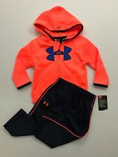 Under Armour NWT Boys 12 18 24 Months Active Pant Logo Hooded Jacket Outfit SET