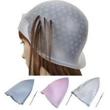 Pro Reusable Hair Colouring Highlighting Dye Cap Hook Frosting Tipping Salon