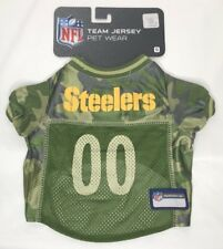NEW NFL Team Jersey Pet Wear Pittsburgh Steelers Green Camo Dog Jersey S M XL