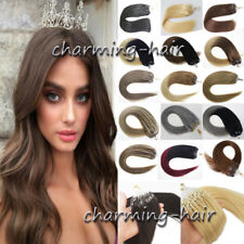 Silicone Micro Ring Beads Loop Link Real Remy Human Hair Extensions 1g/sStraight