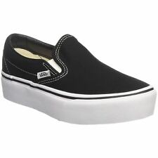 Vans Classic Slip On Platform Black Womens Canvas Low-top Sneakers Trainers