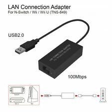 USB Ethernet LAN Adapter Cable Internet Network For Nintendo Switch/ Wii / Wii H