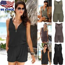 Beach Sleeveless V Neck Bandage Bodycon Jumpsuit Casual Lady Romper Shorts Pants
