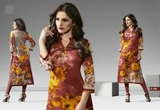 Indian Bollywood Kurta Kurti Designer Women Ethnic Dress Top Tunic Pakistani L38
