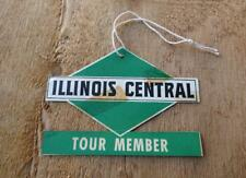 vintage ILLINOIS CENTRAL RAILROAD RR Tour Member Card Tag TRAIN MEMORABILIA
