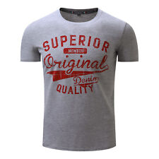New Mens Fashion Casual Sports Short Sleeves Tee Crew-neck Cotton T-Shirts