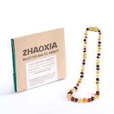 Baltic Amber Necklace for Baby (Multicolor) - 3 Sizes
