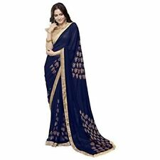 Womens Faux Georgette Printed Wear Saree with Blouse V252