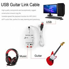 Guitar to USB Interface Link Cable Audio Recorder for PC/for MAC Recording /#