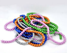 """Glass Pearl Imitation Round Beads - 16"""" Strand - 10mm - 40 pcs. - Pick the color"""