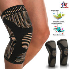 Compression Copper Knee Sleeve Joint Brace Patella Support Pad Relief Pain CFR