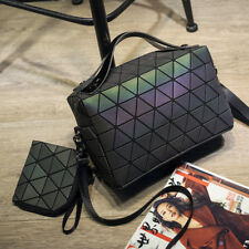 Luminous Women bao bao Bag Geometry shoulder Messenger Bags Composite Bags 2 set