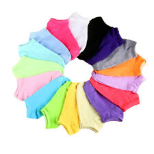 LOT 20Pairs/Pack Women Low Cut Cotton Socks Fashion Boat Ankle Socks Mixed Color