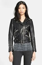 New Women Leather Jacket New Motorcycle Biker Womens Leather Jacket S M # 079