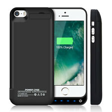 iPhone 5 5S 5C SE Battery Case, Rechargeable Shockproof Backup Battery Charger