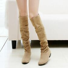 Women Flat Over Knee New Fashion Long Warm Winter Boots Size 30-47