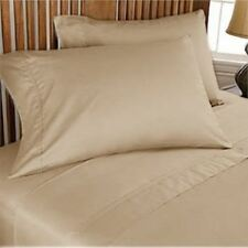 Luxury-USA Bedding Item-All Size 100% Egyptian Cotton 1000 TC Taupe Solid
