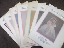 Select from 100s of BYRON'S DOLL PATTERNS Sewing Clothes/Dresses/etc. -- NOS