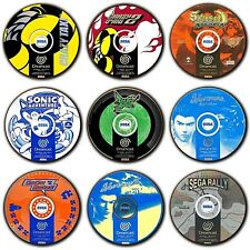 Sega Dreamcast Games - Disc Art - PAL - Coasters - Wooden - Round - 4 FOR 3