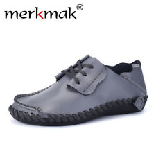 Merkmak Genuine Leather Men Shoes Boat Shoes for Men 2017 New Mens Loafers