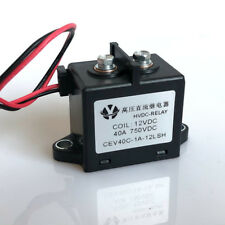 DC Contactor 750VDC 40A PV Power relay Coil Voltage 12V 24VDC