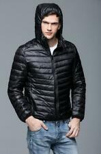 Winter Mens Ultralight Hooded Duck Down Puffer Warm Outdoor Packable jacket Coat