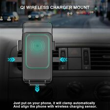 Qi Wireless Car Quick Charger 2 in 1 Mount Holder For iPhone X 8 Plus Samsung HL