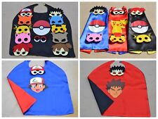 Pokemon Kids Birthday Party Favors - Mask, Cape can Personalize Name Pikachu Ash
