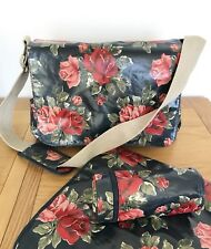 CATH KIDSTON baby changing bag, mat & bottle cover, navy/red floral rose print!