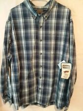 New With Tags Mens 2XL SCHMIDT WorkWear Button Down Shirt Collar Pocket LS
