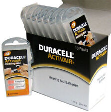 New Fresh Lot 24 to 800 Duracell Activair Hearing Aid Batteries Size 13 Exp 2022
