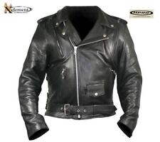 Xelement B7195 Armored Thick Soft Black Naked Leather Classic Motorcycle Jacket