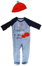 Boys Baby Mummy to-Ma-Toes All in One Romper & Tomato Hat Set 6 to 18 Months
