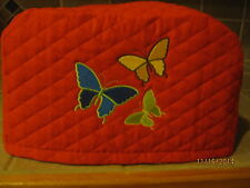 New 2 or 4 Slice Toaster Appliance Covers with Butterflies, Choose Red or Black