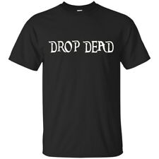 Black Navy T-Shirt - DROP DEAD Funny T-Shirt GIft For Men