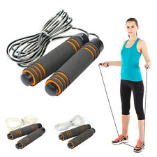 Speed Adjustable Jump Rope Wire Skipping Fitness Aerobic Sport Gym Skip Rope fe