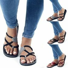 Summer Women Fashionable Flip-flops Slippers Bandage Flat Shoe Casual Slippers X