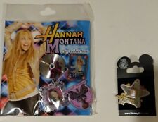 Disney Hannah Montana the Movie 5 Hannah & Miley Cyrus Pins 2008-09 Sealed Bag