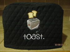 Toaster Appliance Cover 2 or 4 Slice, Choose Black, Red or Cream Color