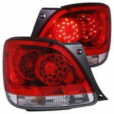 Anzo USA Chrome LED Tail Light Set-Red/Clear Lens, Lexus GS300/GS400; 321101