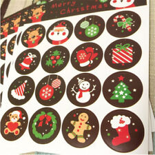 10 Sheets DIY Christmas Envelope Seal Sticker Xmas Gift Label Badge Art Decors