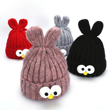 Baby Toddler Girls Boys Infant Warm Bean Sprout Big Eyes Hat Winter Knit Cap lot