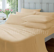 NEW BEIGE COMPLETE HOME BEDDING ITEM 800TC SOLID 100% COTTON CHOOSE SIZES & ITEM