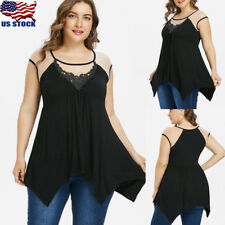 Plus Size Women Short Sleeve Swing Tunic T-Shirt Casual Loose Tops Blouse Tee US