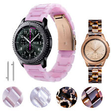 Women 20mm 22mm Resin Leopard Watch Band Strap For Samsung Galaxy Watch 42/46mm