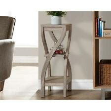 Indoor Plant Stand Accent Side End Table w/ Shelf Storage Living Room Furniture