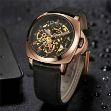 Mechanical Wristwatches Male Watch Casual Leather  Watches Men Business Watch