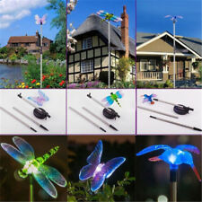 1xSolar Garden Stake Lights Hummingbird Dragonfly Butterfly Outdoor Garden Decor